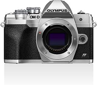 Olympus OM-D E-M10 Mark IV Micro-Four Thirds systemkamera, 20 MP sensor, 5-axlad bildstabilisering, selfie LCD-skärm, elek...