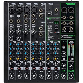 Mackie ProFXv3 Series, 10-Channel Professional Effects Mixer with USB, Onyx Mic Preamps and GigFX effects engine - Unpowered (ProFX10v3)