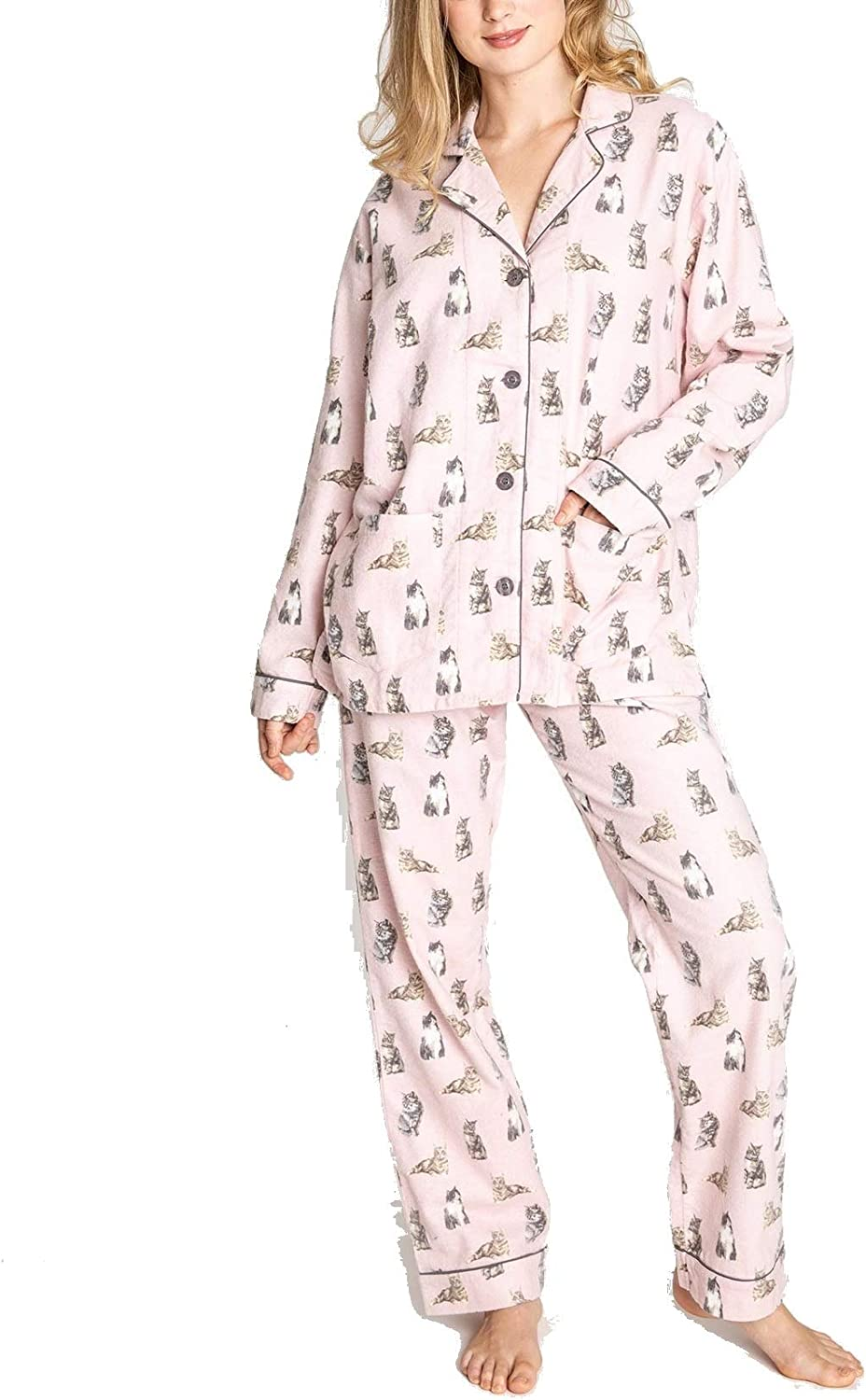 P.J. Salvage Womens Feline Lazy PJ Set