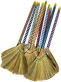 Caravelle Choi Bong Co Vietnam Hand Made Straw Soft Broom with Colored Handle 12