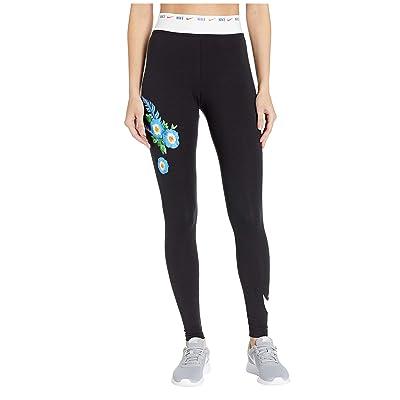 Nike NSW Leggings Graphic Hyper Femme (Black/White) Women
