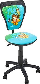 NOWY STYL MINISTYLE Bureau pivotante pour Enfant, Chaise de Adolescent, Polyester, Noir, 55 x 55 x 97,5 cm