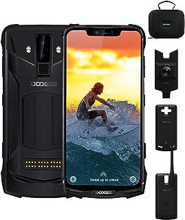 DOOGEE S90C Super Rugged Cell Phones Unlocked Android 9.0, 4G Dual SIM Unlocked Smartphones, 5050mAh+5000mAh(Power Mod), Helio P70 IP68/IP69K Waterproof 4GB+64GB 6.18 inch, 16MP+8MP+8MP, NFC, Black