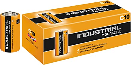 Duracell Industrial C Size Batteries Box of 10 LR14 Alkaline-Manganese Dioxide Battery (ID1400)