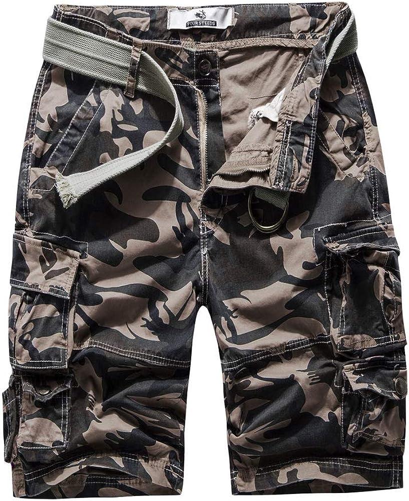2021 FOURSTEEDS Women's Cotton Butt Camouflage Cas store Lift Multi-Pockets