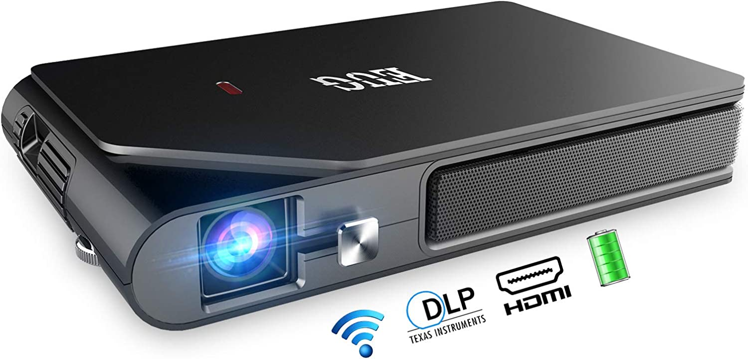 Mini At the price of surprise Deluxe Rechargeable DLP Projector Portable WiFi Wireless Mi Screen