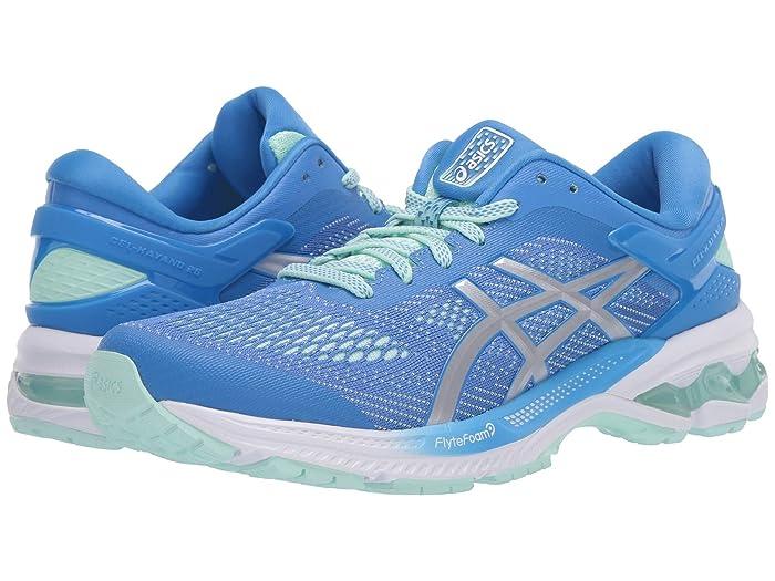 ASICS  GEL-Kayano 26 (Blue Coast/Pure Silver) Womens Running Shoes