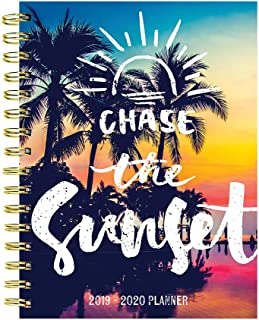 Chase the Sun Tropical Sunset Medium Daily Weekly Monthly 2020 Planner: July 2019 - June 2020 (Academic School Year, Student Planner)