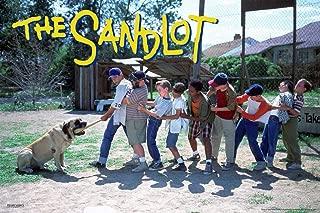 Pyramid America The Sandlot Movie Tug of War Dog One Sheet Baseball Bat Sports Film Classic Laminated Dry Erase Sign Poster 12x18