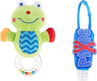 Pixie Frog Rattle Toy with Hand Sanitizer, Pack of 2