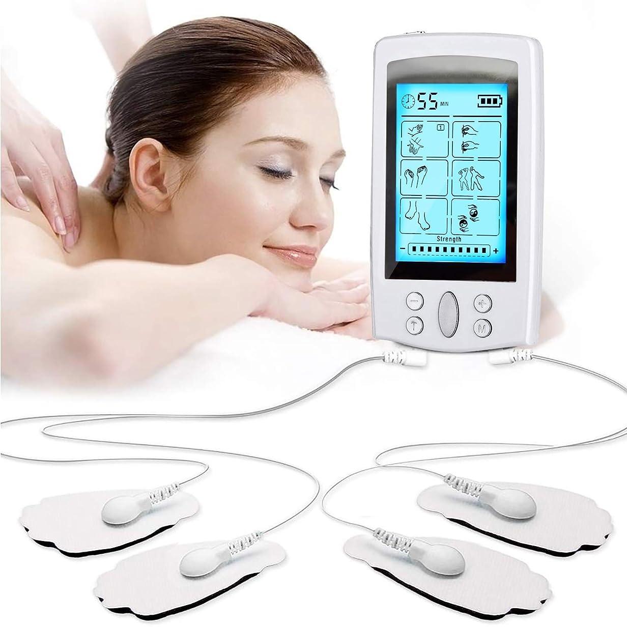 図書館モナリザ条件付きEMS/TENS刺激装置デジタル、 携帯用ヘルスケアボディ電気単位および筋肉刺激装置、電極パッドが付いている12のモード20レベル筋肉刺激のマッサージャー
