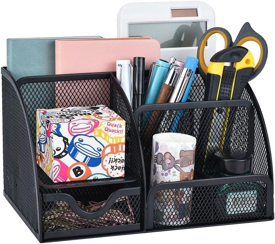 Indefinitely Mesh Desk Organizer Max 50% OFF Pen Holders Supplies Drawer O Storage Office