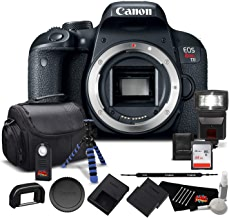 $597 Get Canon EOS Rebel T7i Digital SLR Camera (Body Only) 1894C001 - Bundle with 64GB Memory Card, Extra Battery, Tripod + More