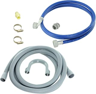 Spares2go Water Fill Pipe & Drain Hose Kit For Lamona Dishwasher (2.5M)