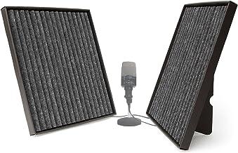 """Cuadrados Onda de sonido: estos paneles de absorción del sonido te permiten afinar la acústica de cualquier espacio: una sala de """"ecos"""", tu home theater o tu estudio de grabación en casa. Y además tienen un aspecto elegante. Están fabricados con capas gris carbón de Mondaplen® en fibra de poliéster para aumentar el efecto de amortiguación del sonido. 60 x 60 cm."""
