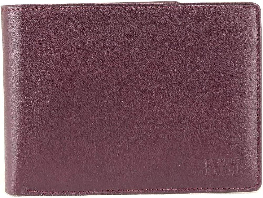 Gianfranco ferrè portafoglio porta carte di credito per uomo in vera pelle 021 024 013 010