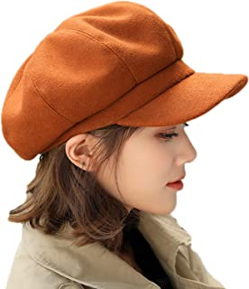 Elonglin Women Berets Newsboy Hat Artist Hats Autumn-Winter Visors Imitation Woolen British Style Fashion Vintage Elegant ...