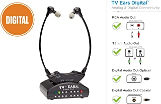 TV Ears Digital Wireless Headset System, Connects to Both Digital and Analog TVs, TV..