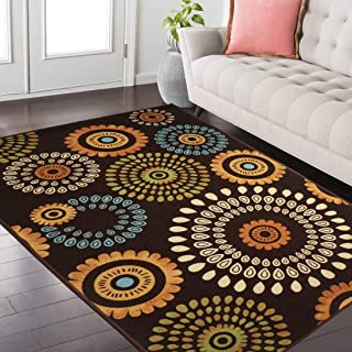 Status Premium Vintage Printed Carpet Rug for Bedroom/Living Area/Home with Anti Slip Backing (4 x 6 ft) (4 x 6, Multi #12)