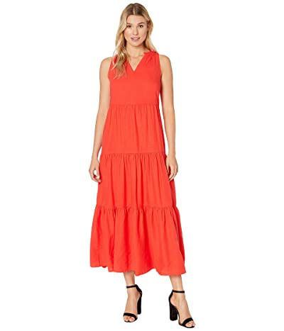 Tommy Bahama Lena Tiered Maxi Sundress (Poppy Red) Women