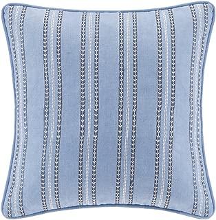 Echo Design Kamala Striped Embroidery Square Pillow, 16 x 16