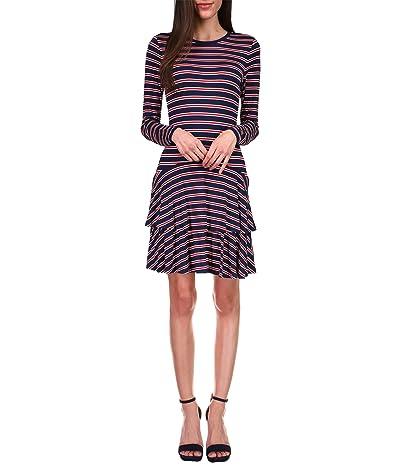 MICHAEL Michael Kors Crew Neck Flounce Dress Women