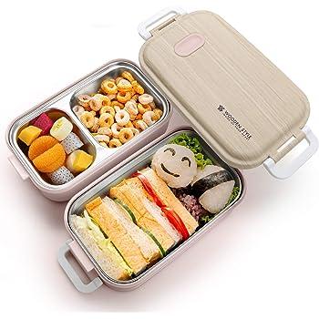 Jelife Bento Box de 2 Niveles Fiambrera Bento de Acero Inoxidable Caja de Almuerzo Lunch Box Fiambrera Infantil Tupper Termico para Colegio Trabajo Picnic Viaje Adultos Niños: Amazon.es: Hogar