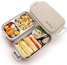 Jelife Bento Box Lunchbox mit Edelstahlsbehälter Brotdose m