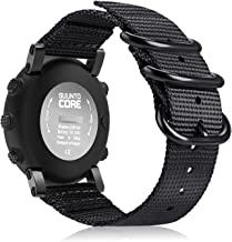 Fintie for Suunto Core Watch Band, Premium Woven Nylon Replacement Sport Strap with Metal Buckle for Suunto Core Smart Watch, Black