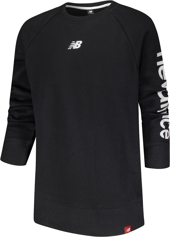 New Balance Boys' Sweatshirt - Active Fleece Logo Pullover Sweatshirt