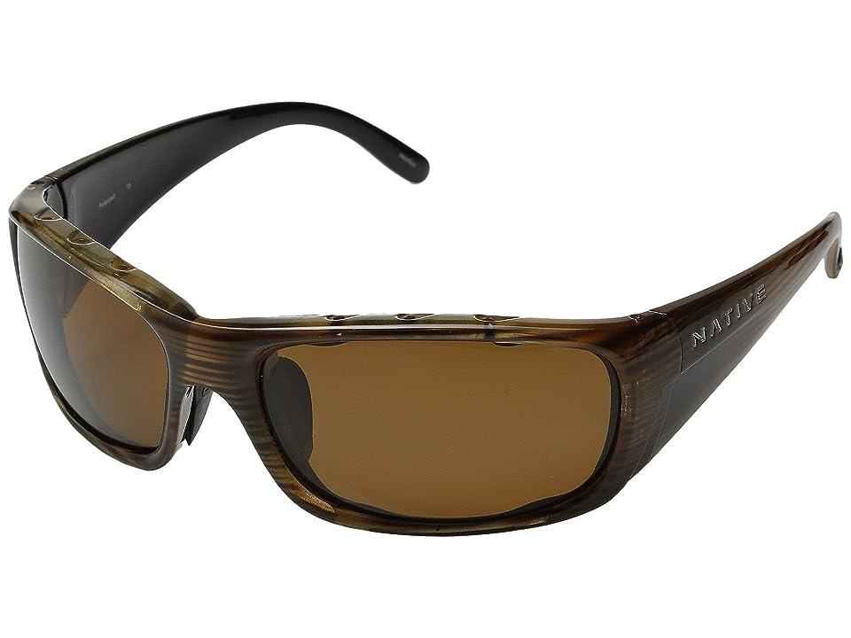 Native Eyewear Bomber (Wood/Brown Lens) Sport Sunglasses
