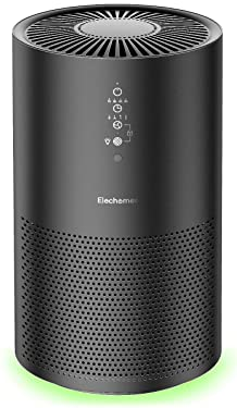 Elechomes EPI236 Air Purifier, Ture H13 HEPA Filter Air Purifiers Remove 99.97% Allergies, Pets, Smokers, Smoke, Dust, Mold, and Pollen, Air Cleaner for Home, Bedroom, Office, Smart Auto Mode, 22dB Ultra Quiet, CADR 260m³/h, Black