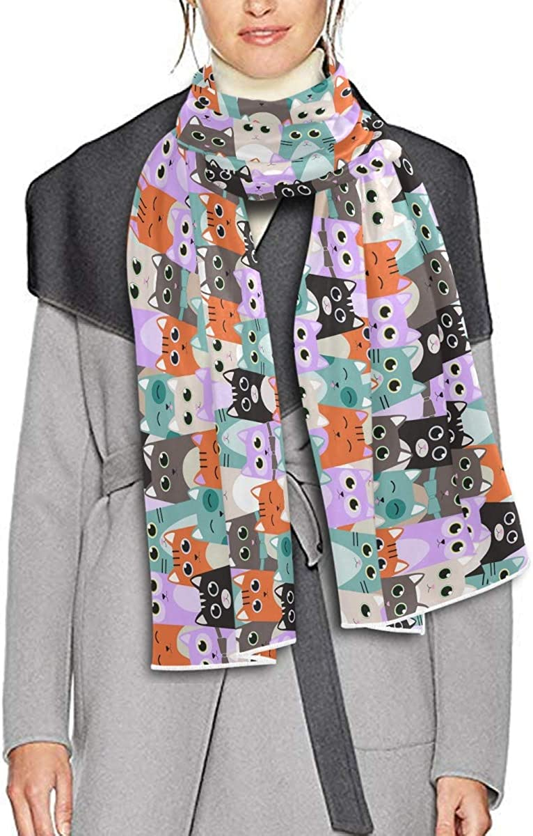 Scarf for Women and Men Cats Kids Blanket Shawl Scarves Wraps Soft Thick Winter Large Scarves Lightweight