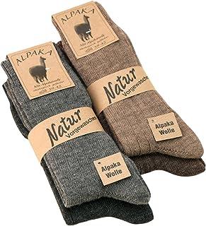 2 pares de calcetines de alpaca con lana de oveja/lana virgen
