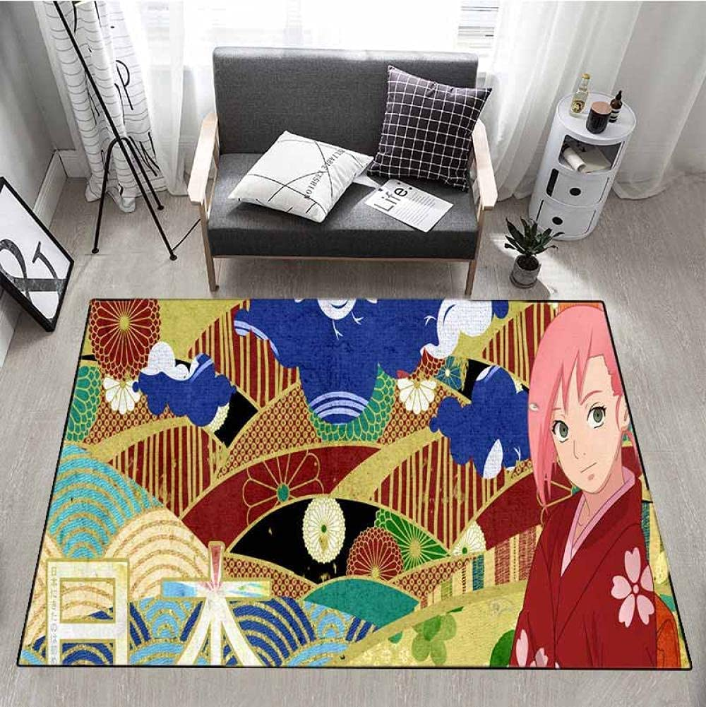 Na_ruto Rug Anime Max 57% OFF Area Rugs for Boys 16 Gorgeous Living Bedroom 2 x Room
