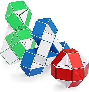 Sponsored Ad - Ganowo 3PCS Large Size Fidget Snake Cube Twist Puzzle Magic Snake Sensory Toys Collection Brain Teaser Stoc...
