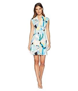 Tinka V-Neck Pleated A-Line Dress