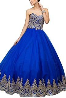 Women's Ball Gown Sweetheart Tulle Corset Prom Quinceanera Dresses Gowns