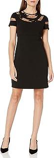فستان دونا مورجان بأكمام قصيرة للنساء