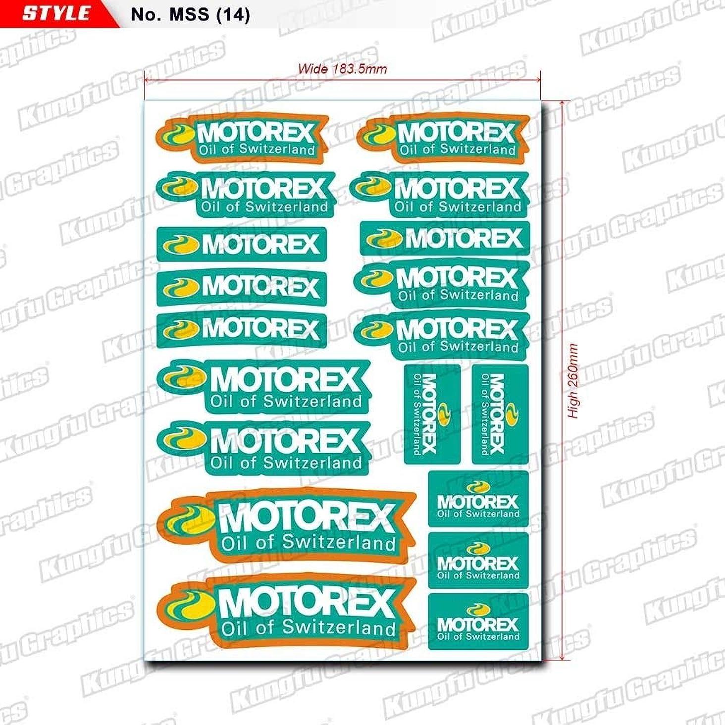 コンセンサスロール憲法KUNGFU GRAPHICS カンフー グラフィックス MOTOREX(モトレックス) レーシングスポンサーロゴ マイクロデカールシート(ホワイト)