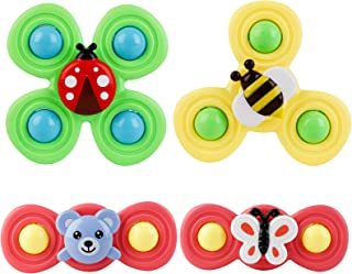 Anjetan Whirly Spinner Toy Funny 4PCS Animal Baby Suction Cup Spinning Top Toy Bath Toy Tub Toy Sucker Toddlers Rattling I...