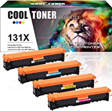 Cool Toner Compatible Toner Cartridge Replacement for HP 131X CF210X 131A CF211A CF212A CF213A HP Color Laserjet Pro 200 Color M251nw MFP M276nw Printer,HP Color Laser Printer M251nw M276nw Toner-4PK