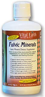 Fulvic Minerals - 32 Fl. Oz. - One Month Supply - Vegan Liquid Trace Mineral Multimineral Supplement - Almost Tasteless - ...