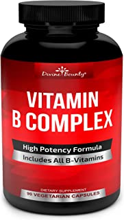 Super B Complex Vitamins - All B Vitamins Including B12, B1, B2, B3, B5, B6, B7, B9, Folic Acid -...