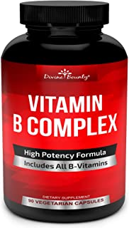 Super B Complex Vitamins - All B Vitamins Including B12, B1, B2, B3, B5, B6, B7, B9, Folic Acid - Vitamin B...