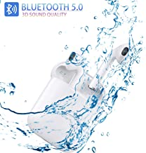 Bluetooth 5.0 Headset Wireless Earbuds 3D High Definition Stereo Noise Reduction Built-in Microphone Headphones Automatic Pop-up Pairing Compatible Airpods Android/Huawei /Samsung