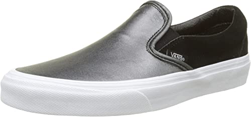 Vans Classic Slip-on Seasonal Seasonal Leather, paniers Femme  gros pas cher