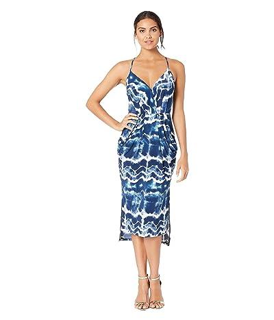 BCBGeneration Drapey Pocket Midi Dress TEG6169244 (Dark Blue) Women