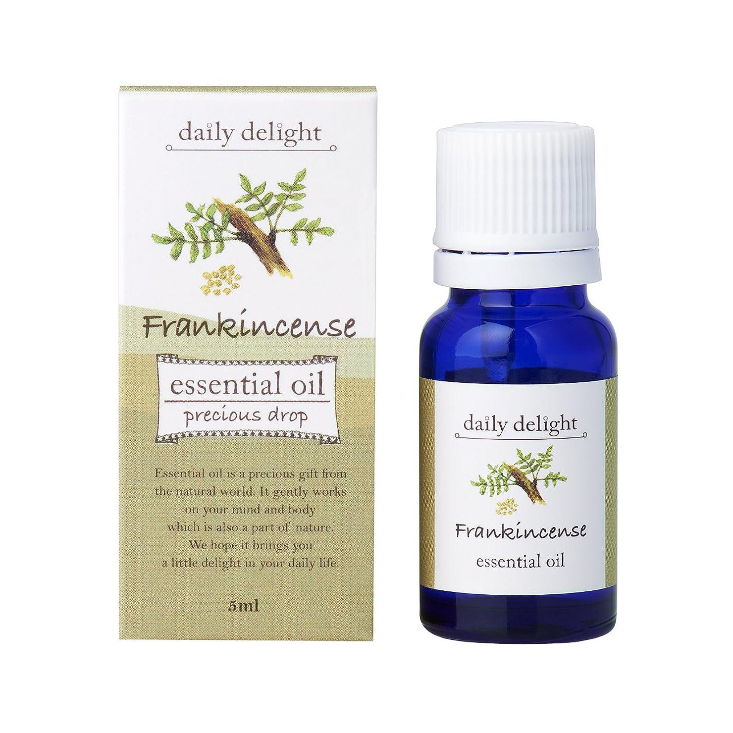 シリンダー大学生憎しみデイリーディライト エッセンシャルオイル フランキンセンス 5ml(天然100% 精油 アロマ 樹脂系 樹脂から採れるさわやかな木の香り)
