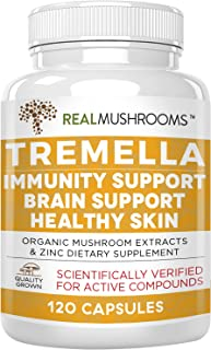 Tremella Mushroom Extract, Mushroom Supplement for Immunity Support, Brain Support and Healthy Skin, Vegan and Non-GMO (12...